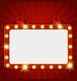 suspended glowing cinema billboard vector image vector image