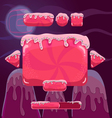 Sweet cartoon user interface games Game design vector image