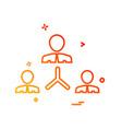 team icon design vector image