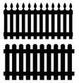 Two black fences vector image