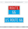 us route 66 vector image vector image
