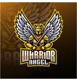 warrior angel mascot logo design vector image vector image