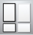 white and black realistic empty pictures frame vector image vector image