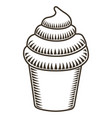 isolated ice cream sketch vector image