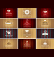 set of business cards on theme of food and drink vector image