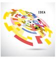 Creative circle abstract logo design backgr vector image