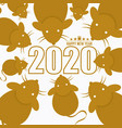 2020 year rat cartoon vector image vector image