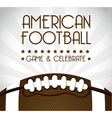 american football over gray background