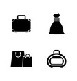 bag simple related icons vector image vector image