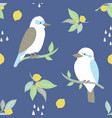 beach tropical seamless pattern with kookaburra vector image vector image