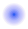 blue concentric rings epicenter icon simple flat vector image vector image