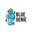 blue genie hat logo icon vector image