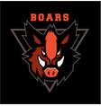 boar head emblem vector image vector image