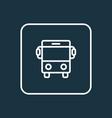 bus outline symbol premium quality isolated auto vector image