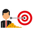 businessman target money business and star up vector image