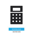calculator icon simple sign for web site and vector image vector image