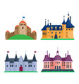 cartoon castle architecture vector image vector image