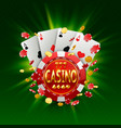 casino banner in a frame on background vector image