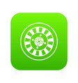 casino gambling roulette icon digital green vector image vector image