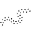 cat footprints cats or dogs travel footprints vector image vector image