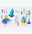 chemistry lab and school class science education vector image