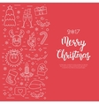 Christmas isolated concept flyer card with vector image