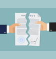 contract break in flat style business concept vector image vector image