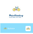 creative cycle logo design flat color logo place vector image