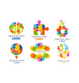 creative idea logo templates collection digital vector image