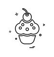 cup cake icon design vector image vector image