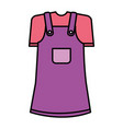 cute girl costume icon vector image vector image