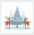deer winter vector image vector image