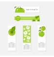Design Business Banners with Green Apples for vector image