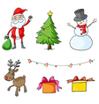Different christmas symbols vector image vector image