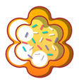 easter bread icon cartoon style vector image vector image