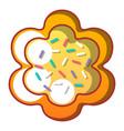 easter bread icon cartoon style vector image vector image