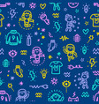 electric characters pattern vector image