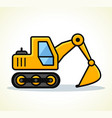 excavator design vector image vector image