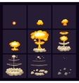 Explosion Effects Icons Set vector image vector image
