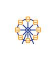 ferris wheel line icon amusement park sign vector image
