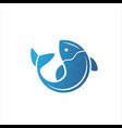 fish logo fresh seafood logo template design vector image vector image