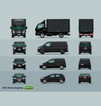 four types cars to work in city layout vector image vector image