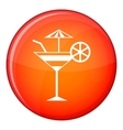 Fruit cocktail icon flat style vector image vector image