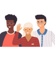 group young people different nationalities vector image