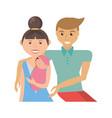 happy family love members vector image
