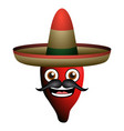 happy pepper with hat vector image