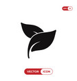 herbal spa treatment leaves icon vector image