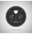 Hipster badge postcard vector image vector image