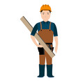 isolated constructor avatar vector image