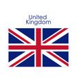 isolated united kingdom flag design vector image